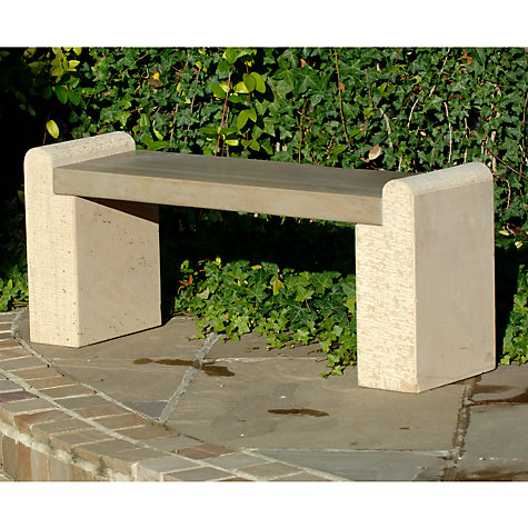 Buy Foras Hampton Brown 2-Seat Garden Bench Online at johnlewis.com