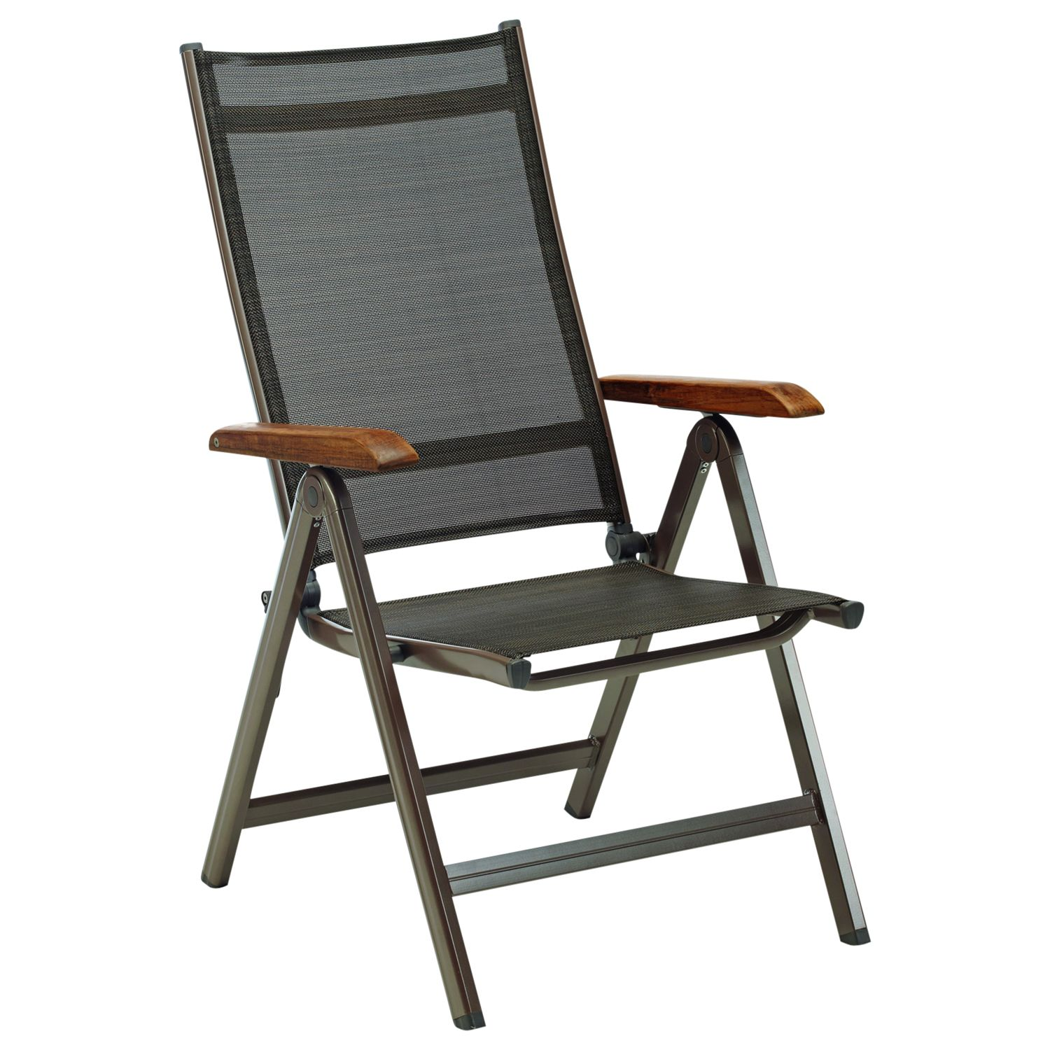 Kettler Grenada Multi-Position Outdoor Dining Chair, Brown