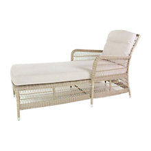 Buy Kettler Hampton Outdoor Chaise Longue, Whitewash Online at johnlewis.com