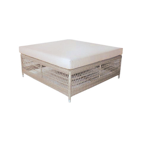 Buy Kettler Hampton Outdoor Footstool, Whitewash Online at johnlewis.com