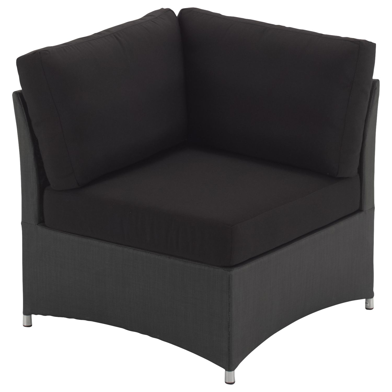 Gloster Casa Outdoor Sofa Corner Unit, Black