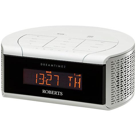 buy roberts dreamtime 2 dab fm digital clock radio john lewis. Black Bedroom Furniture Sets. Home Design Ideas
