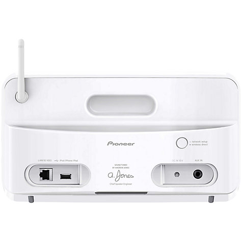 Buy Pioneer A1 Compact Wireless Speaker with Apple AirPlay & HTC Connect, White Online at johnlewis.com