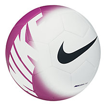 Buy Nike Mercurial Veer Football, White/Purple Online at johnlewis.com