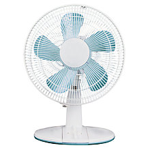 Buy NSA'UK DF-3032 White Desk Fan, 12 Inch Online at johnlewis.com