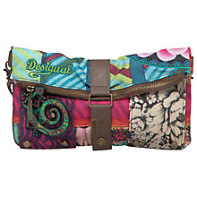 Buy Desigual Multi Print Cross-Body Bag, Green Online at johnlewis.com
