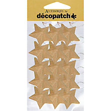 Buy Decopatch Christmas Decorations, Stars on a String, Pack of 15 Online at johnlewis.com