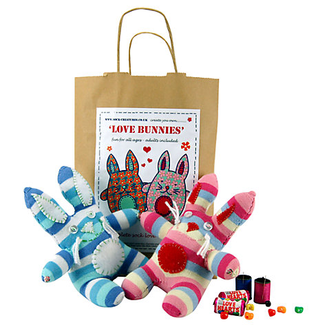 Buy Sock Creatures Love Bunnies Kit Online at johnlewis.com
