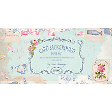Buy Tilda Seaside Life Card Background Paper Pad, Pack of 24 Online at johnlewis.com