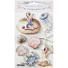 Buy Tilda Seaside Life 3D Sticker, Pack of 8 Online at johnlewis.com