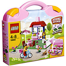 Buy LEGO Young Builders Suitcase, Pink Online at johnlewis.com