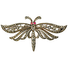 Buy Sharon Mills Silver Marcasite Detail Moth Brooch Online at johnlewis.com