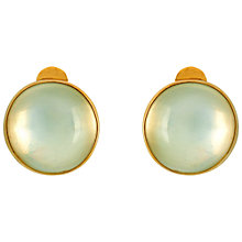 Buy Sharon Mills 9ct Yellow Gold Moonstone Clip Earrings Online at johnlewis.com