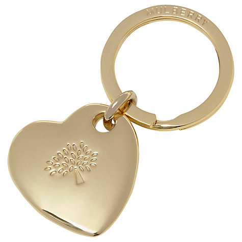 Buy Mulberry Heart Metal Keyring Online at johnlewis.com