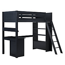 Buy John Lewis Ashton High Sleeper with Bookcase and Desk, Blue Online at johnlewis.com