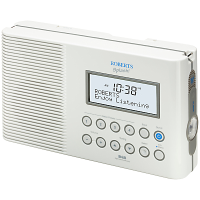 ROBERTS SPLASH! DABFM Shower Radio White