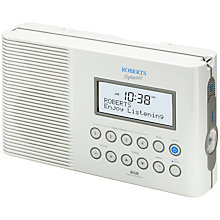 Buy ROBERTS SPLASH! DAB/FM Shower Radio, White Online at johnlewis.com