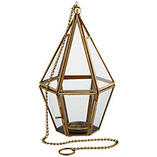 Buy John Lewis Humphrey Tealight Holder, Brass Online at johnlewis.com