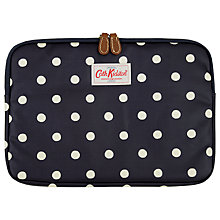 "Buy Cath Kidston 11"" Laptop Sleeve, Navy Dot Online at johnlewis.com"