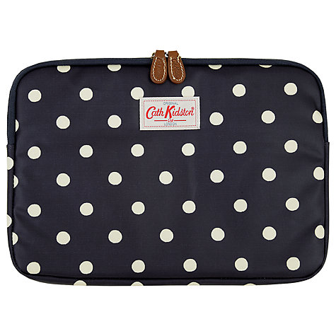 "Buy Cath Kidston Dot 11"" Laptop Sleeve, Navy Online at johnlewis.com"