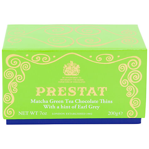 Buy Prestat Green Tea and Earl Grey White Chocolate Wafers, 200g Online at johnlewis.com