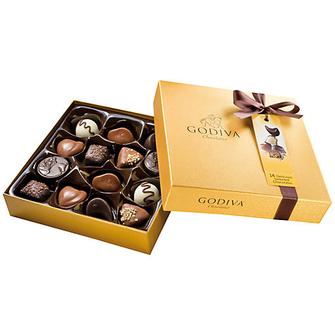 Buy Godiva New Gold Chocolate Box, 165g Online at johnlewis.com