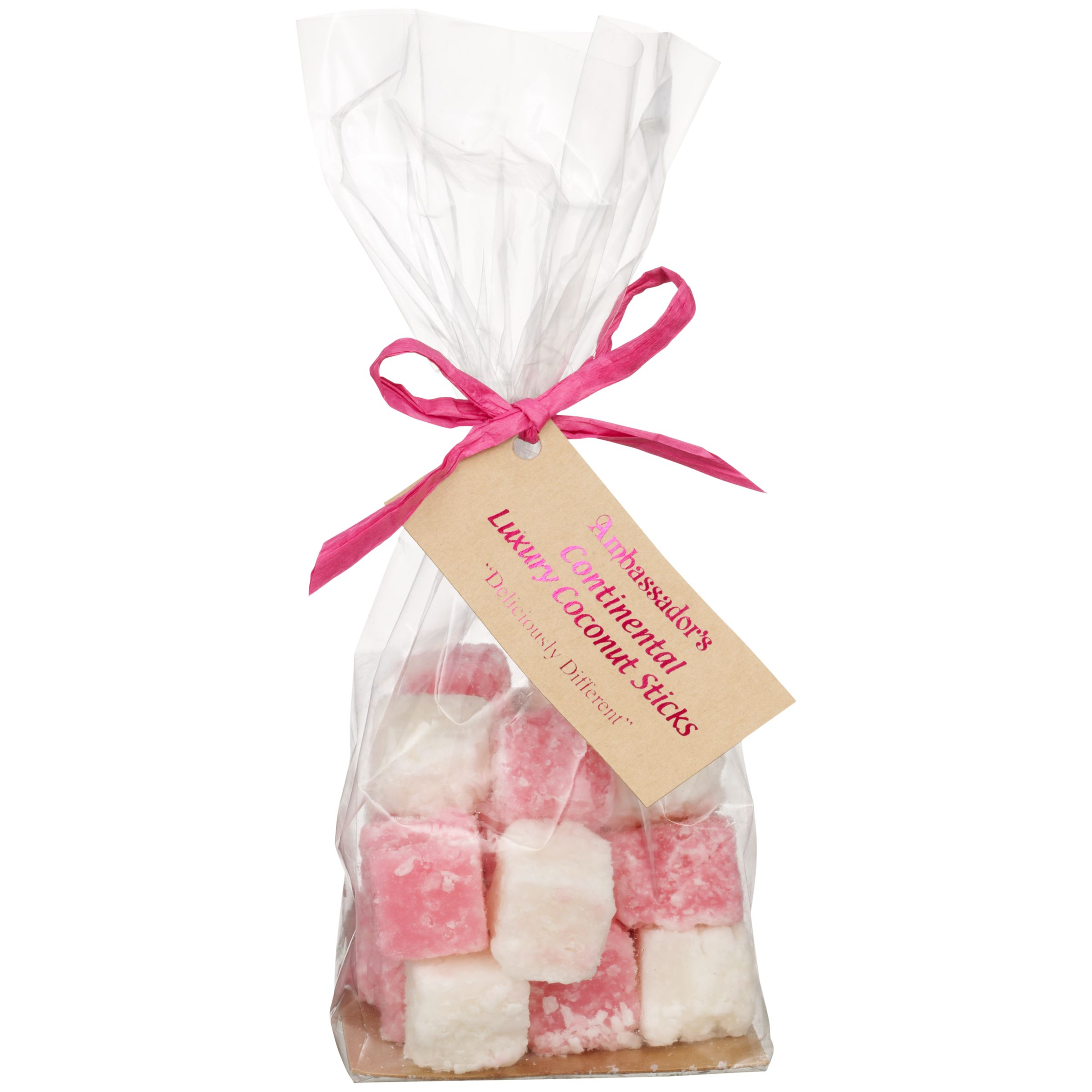 Ambassadors of London Ambassadors of London Pink and White Coconut Slice, 200g