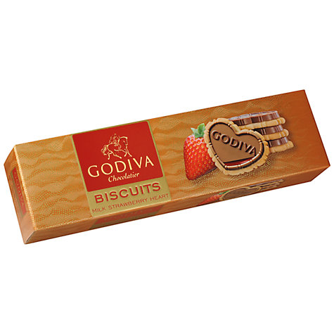 Buy Godiva Strawberry Hearts Biscuits, 100g Online at johnlewis.com