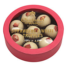 Buy Charbonnel et Walker Strawberry White Truffles, 125g Online at johnlewis.com