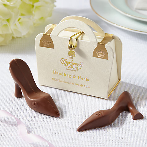 Buy Charbonnel et Walker Milk Chocolate White Handbag and Heels, 60g Online at johnlewis.com