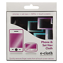 Buy e-cloth Phone and Sat-Nav Cloth Online at johnlewis.com