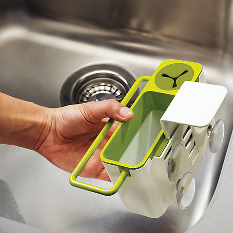 Buy Joseph Joseph Sink Aid In-Sink Caddy, White / Green Online at johnlewis.com