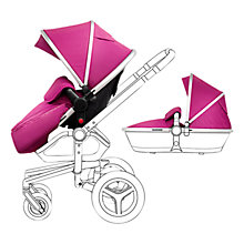 Buy Silver Cross Chrome Surf Set with Free Simplicity Car Seat, Raspberry Online at johnlewis.com