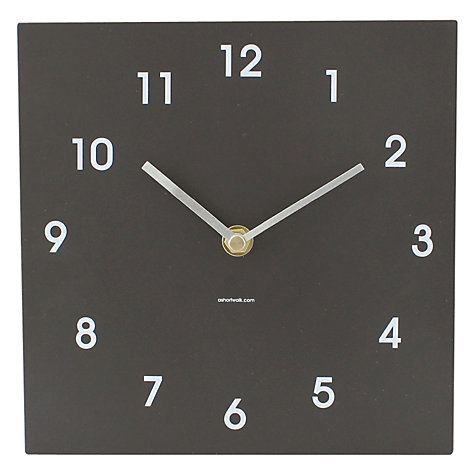 Buy ashortwalk Eco Recyled Coffee Cups Classic Clock, H20 x W20cm Online at johnlewis.com
