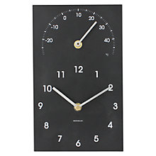 Buy ashortwalk Eco Traditonal Clock and Thermometer, Small Online at johnlewis.com