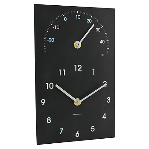 Buy ashortwalk Eco Recyled Coffee Cups Traditonal Clock and Thermometer, H16 x W26cm, Small Online at johnlewis.com