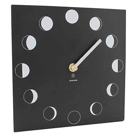 Buy ashortwalk Eco Recyled Coffee Cups Moon Phase Clock Online at johnlewis.com