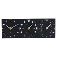 Buy ashortwalk Eco Moon, Tide and Time Clock Online at johnlewis.com