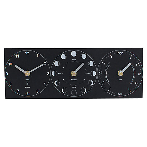 Buy ashortwalk Eco Moon, Tide and Time Clock, H35 x W15cm Online at johnlewis.com
