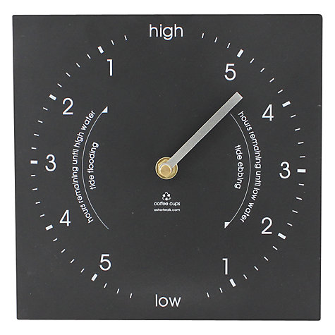 Buy ashortwalk Eco Recyled Coffee Cups Tide Clock, H20 x W20cm Online at johnlewis.com