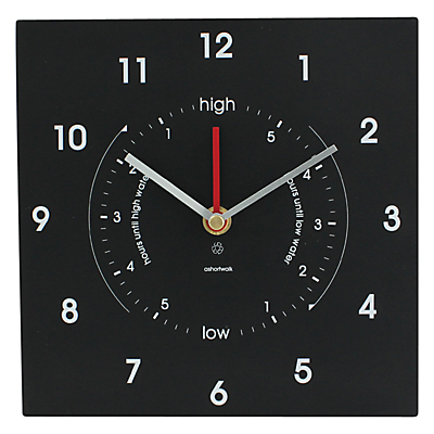 ashortwalk Eco Time and Tide Clock, 20 x 20cm