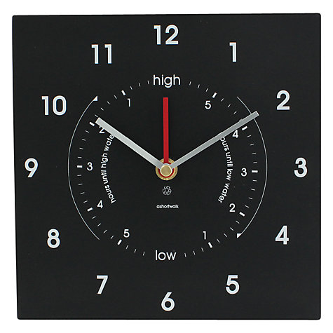 Buy ashortwalk Eco Time and Tide Clock, 20 x 20cm Online at johnlewis.com