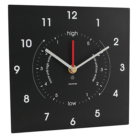 Buy ashortwalk Eco Recyled Coffee Cups Time and Tide Clock, 20 x 20cm Online at johnlewis.com