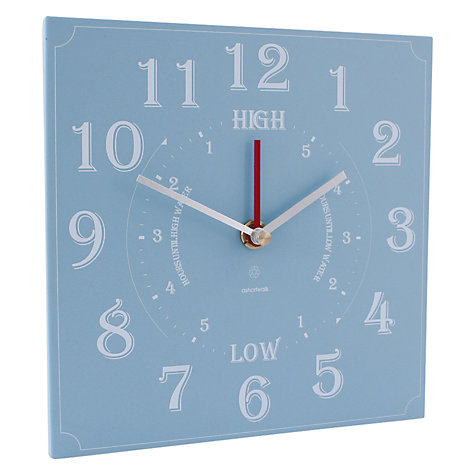 Buy ashortwalk Eco Recycled Yoghurt Pots Time and Tide Clock, 20 x 20cm Online at johnlewis.com