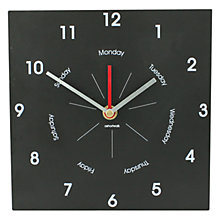 Buy ashortwalk Eco Recyled Coffee Cups Week Planner Clock, H22 x W38cm Online at johnlewis.com