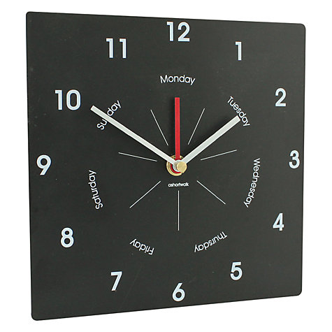 Buy ashortwalk Eco Day and Time Clock, H22 x W38cm Online at johnlewis.com