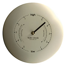 Buy ashortwalk Powder Coated Stainless Steel Tide Clock, Dia.19.5cm Online at johnlewis.com