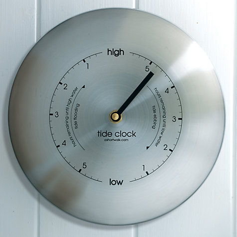 Buy ashortwalk Stainless Steel Tide Clock, Dia.19.5cm Online at johnlewis.com