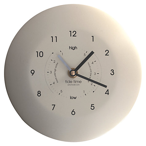 Buy ashortwalk Powder Coated Stainless Steel Time and Tide Clock, Dia.19.5cm Online at johnlewis.com