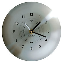 Buy ashortwalk Stainless Steel Time and Tide Clock Online at johnlewis.com